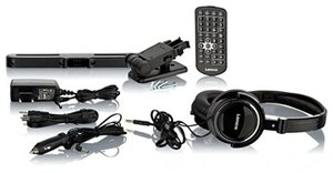 Lenco DVP-1045 2 x 25,5 cm (10 Zoll) DVD-Player mit Bildschirm, 2x Kopfhörer, USB, SD/MMC, 2x Fernbedienung, 2x Kopfstützenbefestigung, 2x Netzadapter, schwarz
