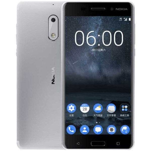 Nokia 6 Dual-SIM, Farbe:Silber