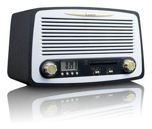 Lenco SR02 Retro Radio FM mit Weckfunktion