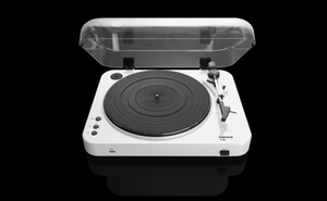 Lenco L-85, Audio-Plattenspieler mit Riemenantrieb, Halbautomatisch, Weiß, 33,45 RPM, MP3