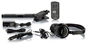 """Lenco DVP-939 2 x 9"""" (22,5 cm) DVD-Player mit Bildschirm, 2x Kopfhörer, USB, SD/MMC, 2x Fernbedienung, 2x Kopfstützenbefestigung, 2x Netzadapter, schwarz"""