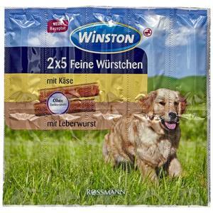 Winston 2x 5 feine Würstchen Käse/Leberwurst 2.23 EUR/100 g