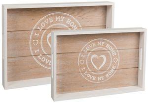 Tablett - I Love My Home - aus Holz - verschiedene Größen