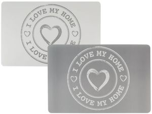Platzmatte - I Love My Home - aus Kunststoff - 43,5 x 28,5 cm - 1 Stück