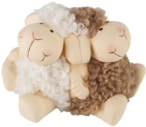 Schafe - aus Terrakotta - 12 x 7 x 7,5 cm