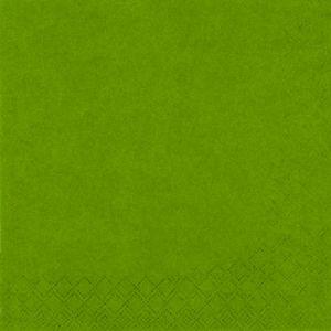 Servietten - olivgrün - 33 x 33 cm - 20 Stück