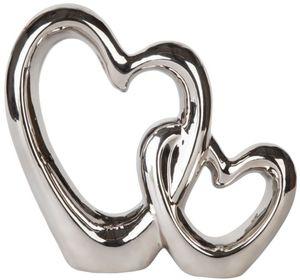 Standdeko - Herzen - aus Keramik - 33 x 7 x 29 cm