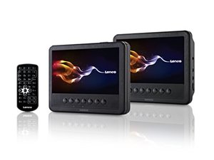 Lenco MES-212 portabler DVD-Player mit 2x 17,5 cm Display, schwarz