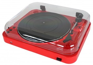 Lenco L-85 Plattenspieler mit USB-Funktion rot