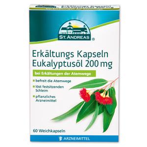 St. Andreas Erkältungs Kapseln Eukalyptusöl 200 mg**
