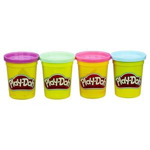 Play-Doh 4er Pack pink, lila, hellgrün, hellblau