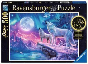 Ravensburger Puzzle Wolf im Nordlicht