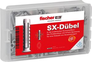 fischer Dübelbox - SX Dübel, 130 Teile