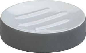 Bad Accessoires - Seifenablage, grau-weiß