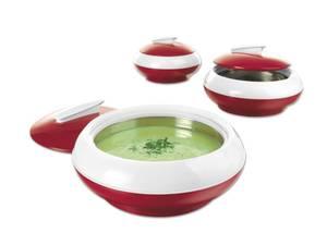 Thermo-Schüssel Set, 3-teilig, rot Gourmet Maxx