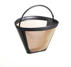 Dauerfilter Kaffee Goldton, Edelstahl, titanbeschichtet