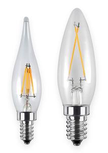 LED Innovation French Candle 1,5W, E10, klar, 22 x 85 mm SEGULA