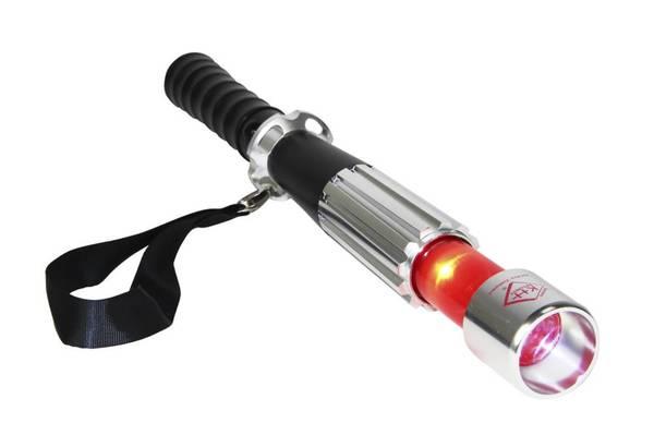 Defense LED Stablampe KH-Pro Compact mit roter LED-Einweiselampe und Glaszertrümmerer