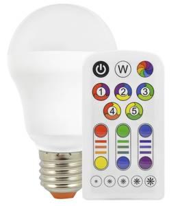 LED Lampe RGBplus in Glühlampenform mit Farbwechsel und Fernbedienung - 7 Watt, E27 Müller Licht