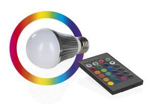 LED Lampe Color Sensation mit Farbwechselfunktion, Blinkeffekten und Fernbedienung, E27 Easymaxx