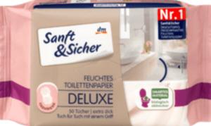 Sanft&Sicher Feuchtes Toilettenpapier Deluxe Cashmere 50 St