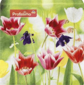 Profissimo Servietten 25x25 Tulpen