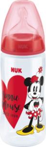 Nuk Flasche First Choice+ Disney Mickey mit Trinksauger aus Silikon in Größe 2 Milch, 300ml, 6-18 Monate, rot