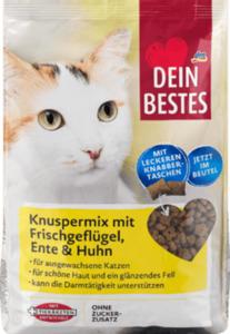 Dein Bestes Trockenfutter für Katzen, Knuspermix mit Frischfleisch, Ente & Huhn