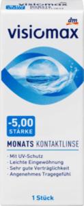 VISIOMAX Monatskontaktlinse Dioptrie  -5,00