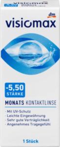 VISIOMAX Monatskontaktlinse Dioptrie -5,50