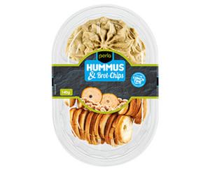 perla Hummus-Snack mit Brot-Chips