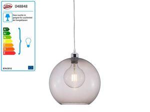 Nino Leuchten Pendelleuchte 1-flammig BUBBLE rauchgrau ohne Deko-Acrylbehang