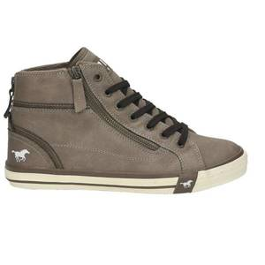 Damen High Top Sneaker, hellgrau
