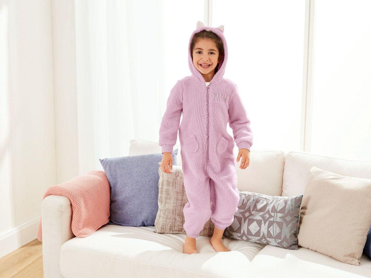Bild 4 von LUPILU® Kleinkinder Mädchen Plüsch-/ Fleeceoverall