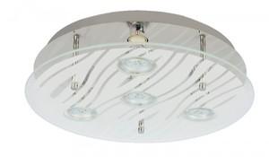 Trendline LED Deckenleuchte Lyon ,  4-flammig, chrom, Glas