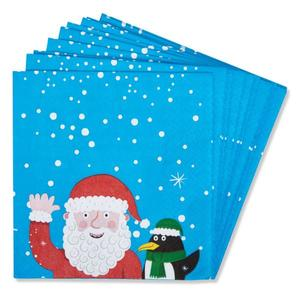 Papierservietten 20 Stück ´´Santa & Penguin