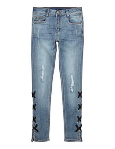Mädchen Destroyed Skinny Fit 5-Pocket-Jeans