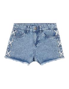 Mädchen 5-Pocket-Jeansshorts mit Zierschnürung