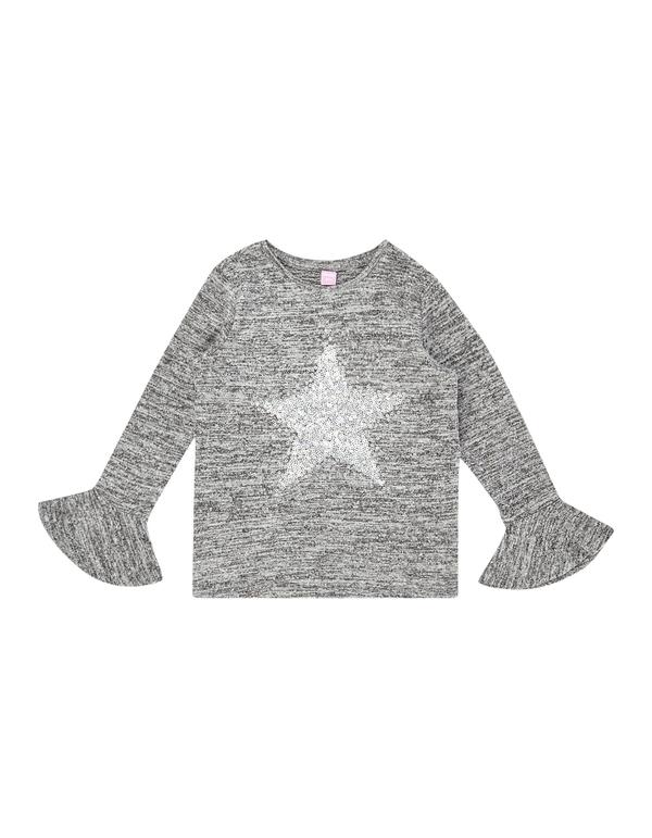 Mädchen Pullover mit Pailletten-Besatz