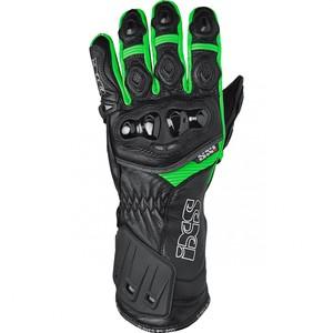 IXS            RS-200 Leder-Sporthandschuh schwarz/grün