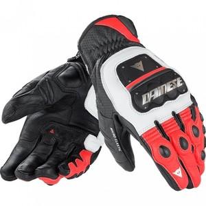 Dainese            4 Stroke Evo Lederhandschuh weiß/rot/schwarz XL