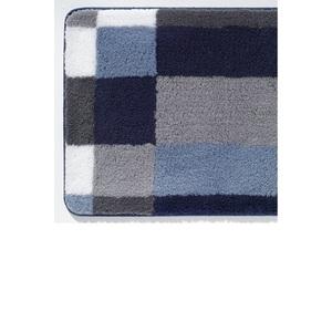 Kleine Wolke Badteppich EDGE 70 x 120 cm in Blau