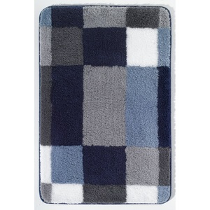 Kleine Wolke Badteppich EDGE 50 x 60 cm in Blau