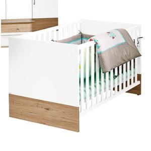 PAIDI Kinderbett REMO 70 x 140 cm, Weiß/Braun