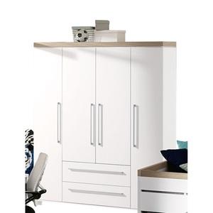 PAIDI Kleiderschrank KIRA 177 x 206 x 56 cm, Weiß