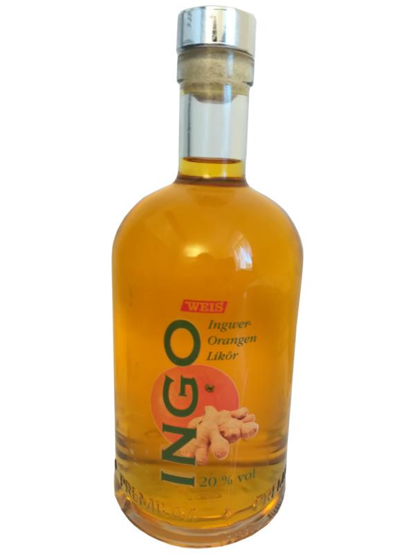 Weis Ingo Ingwer-Orangen Likör 0,5 ltr