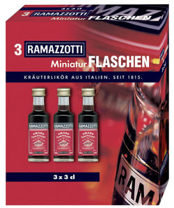 Ramazzotti Amaro Miniaturen 3er Packung 3x 30ml