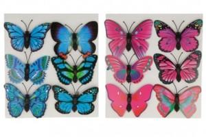 6er Set Schmetterlinge