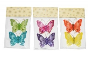 2er Schmetterling Clip