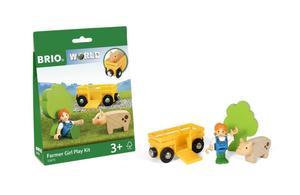BRIO World Spielpäckchen Bäuerin mit Schwein
